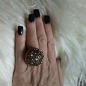 Jewelry - Big & Bold  chocolate crystal ring.